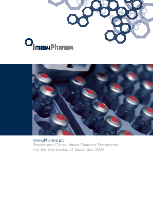 Immupharma annual report 2009