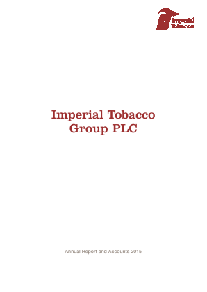 Imperial Brands Plc annual report 2015