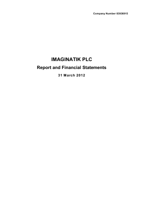 Imaginatik Plc annual report 2009