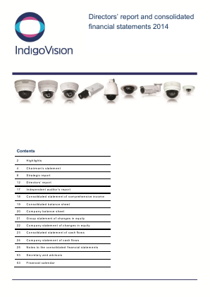 Indigovision Group annual report 2014