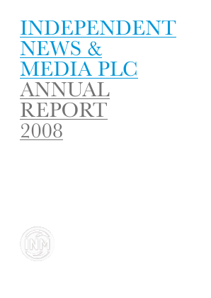 Independent News & Media annual report 2008