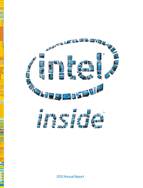 Intel annual report 2012