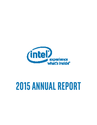 Intel Corporation annual report 2015
