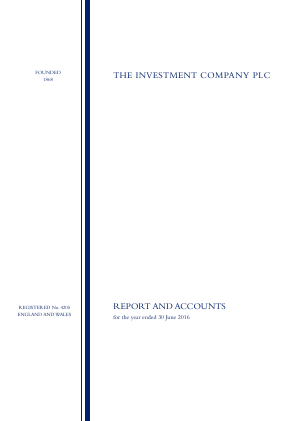 The Investment Company annual report 2016