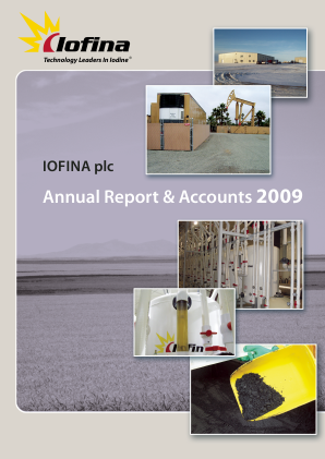 Iofina Plc annual report 2009
