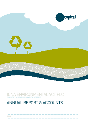 Iona Environmental VCT Plc annual report 2011
