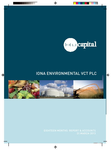 Iona Environmental VCT Plc annual report 2013