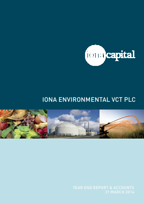 Iona Environmental VCT Plc annual report 2014