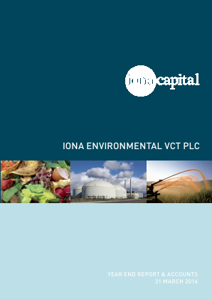 Iona Environmental VCT Plc annual report 2016