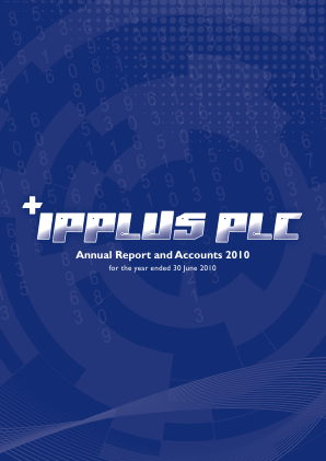 PCI-PAL (previously Ipplus) annual report 2010