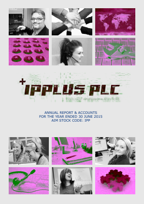 PCI-PAL (previously Ipplus) annual report 2015