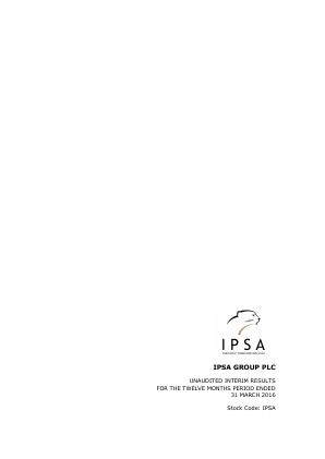 IPSA Group annual report 2016