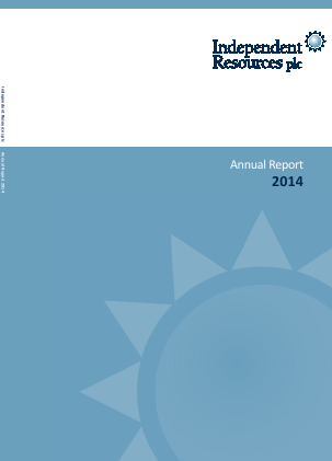 Echo Energy (previously Independent Resources) annual report 2014