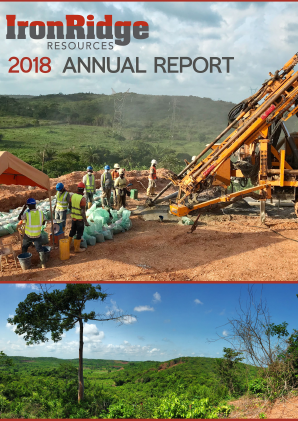 Ironridge Resources annual report 2018