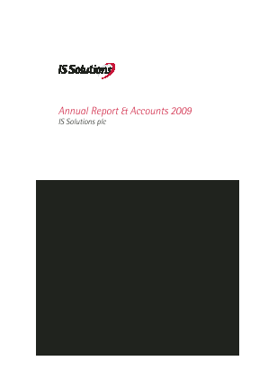 D4T4 Solutions (previously IS Solutions) annual report 2009