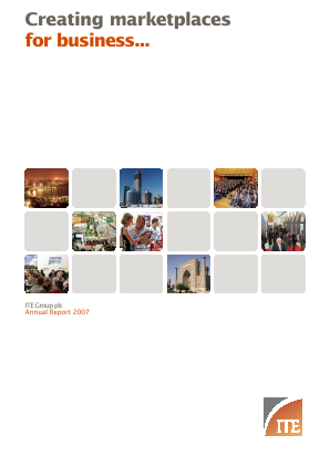 ITE Group annual report 2007