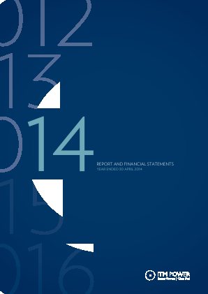 ITM Power annual report 2014