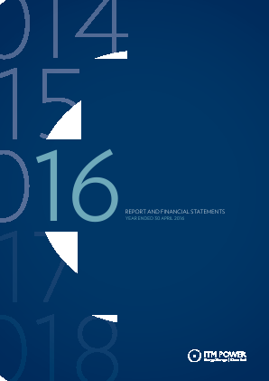 ITM Power annual report 2016
