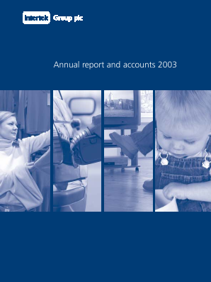 Intertek Group annual report 2003