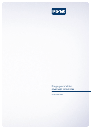 Intertek Group annual report 2008