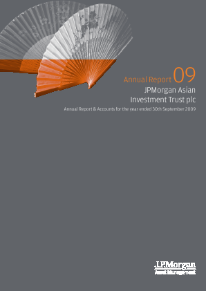 JP Morgan Asian Investment Trust annual report 2009