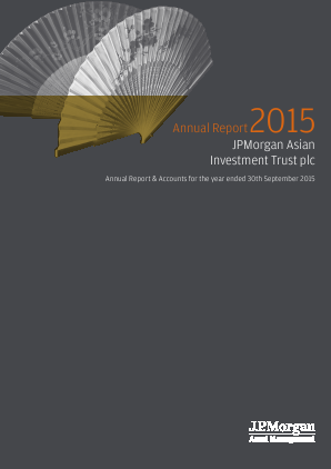 JP Morgan Asian Investment Trust annual report 2015