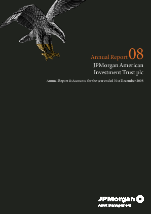 JP morgan American Investment Trust annual report 2008