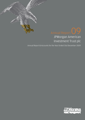 JP morgan American Investment Trust annual report 2009