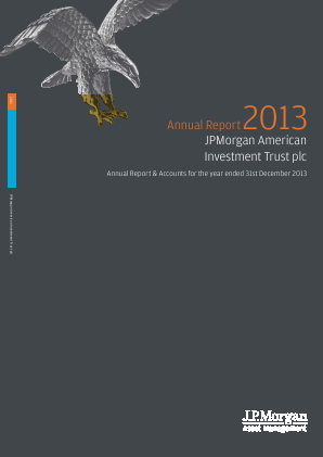 JP morgan American Investment Trust annual report 2013