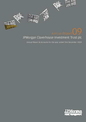 JP Morgan Claverhouse Investment Trust Plc annual report 2009