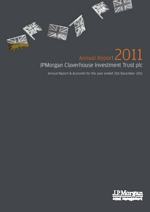 JP Morgan Claverhouse Investment Trust Plc annual report 2011