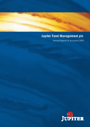 Jupiter Dividend & Growth Trust annual report 2010