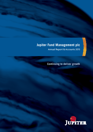 Jupiter Dividend & Growth Trust annual report 2013