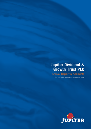Jupiter Dividend & Growth Trust annual report 2016