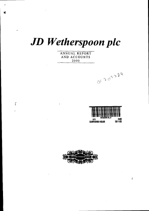 Wetherspoon(JD) annual report 2000