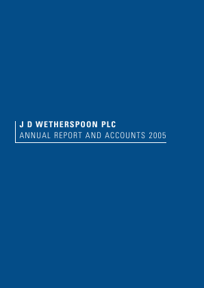 Wetherspoon(JD) annual report 2005