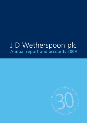 Wetherspoon(JD) annual report 2009