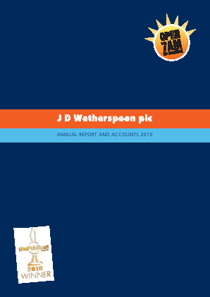 Wetherspoon(JD) annual report 2010