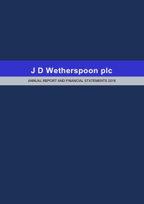 Wetherspoon(JD) annual report 2016
