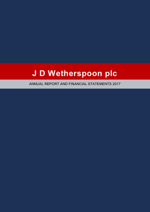 Wetherspoon(JD) annual report 2017
