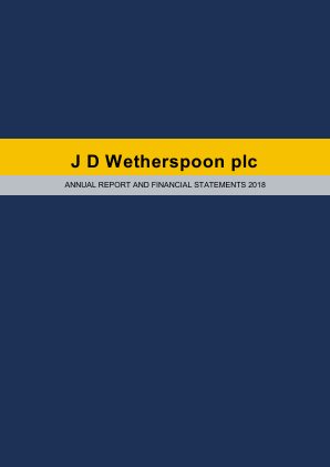 Wetherspoon(JD) annual report 2018