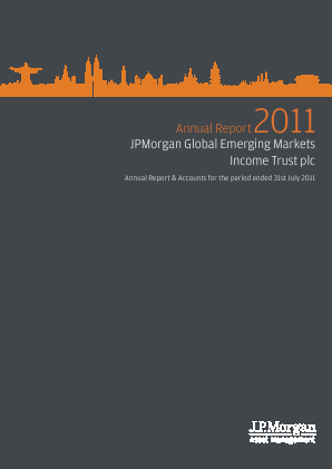 JP Morgan Global Emerging Markets Investment Trust Plc annual report 2011