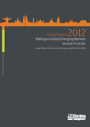 JP Morgan Global Emerging Markets Investment Trust Plc annual report 2012