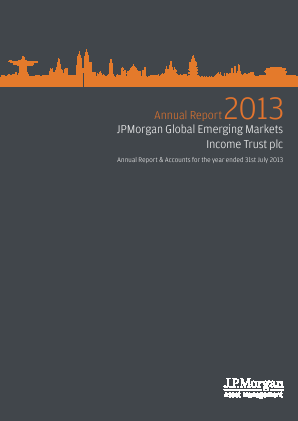 JP Morgan Global Emerging Markets Investment Trust Plc annual report 2013