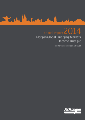 JP Morgan Global Emerging Markets Investment Trust Plc annual report 2014