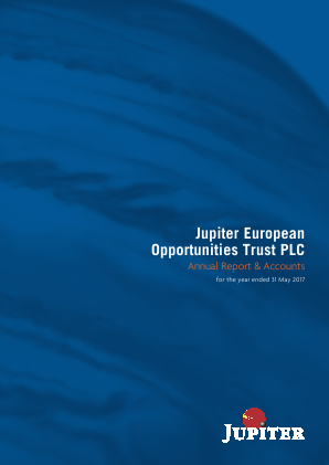 Jupiter European Opportunities Trust annual report 2017