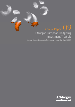 JP Morgan Euro Smaller Companies Trust Plc annual report 2009