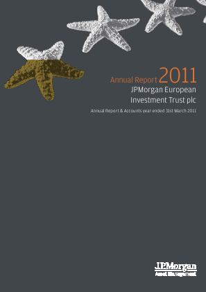 JP Morgan Euro Smaller Companies Trust Plc annual report 2011
