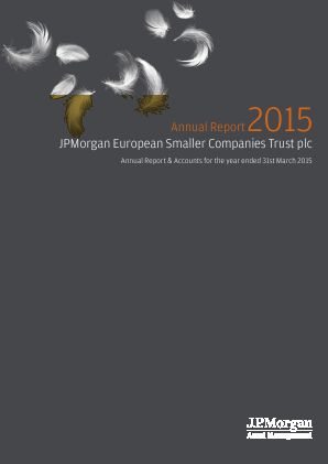 JP Morgan Euro Smaller Companies Trust Plc annual report 2015