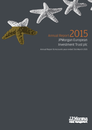 JP Morgan European Investment Trust annual report 2015